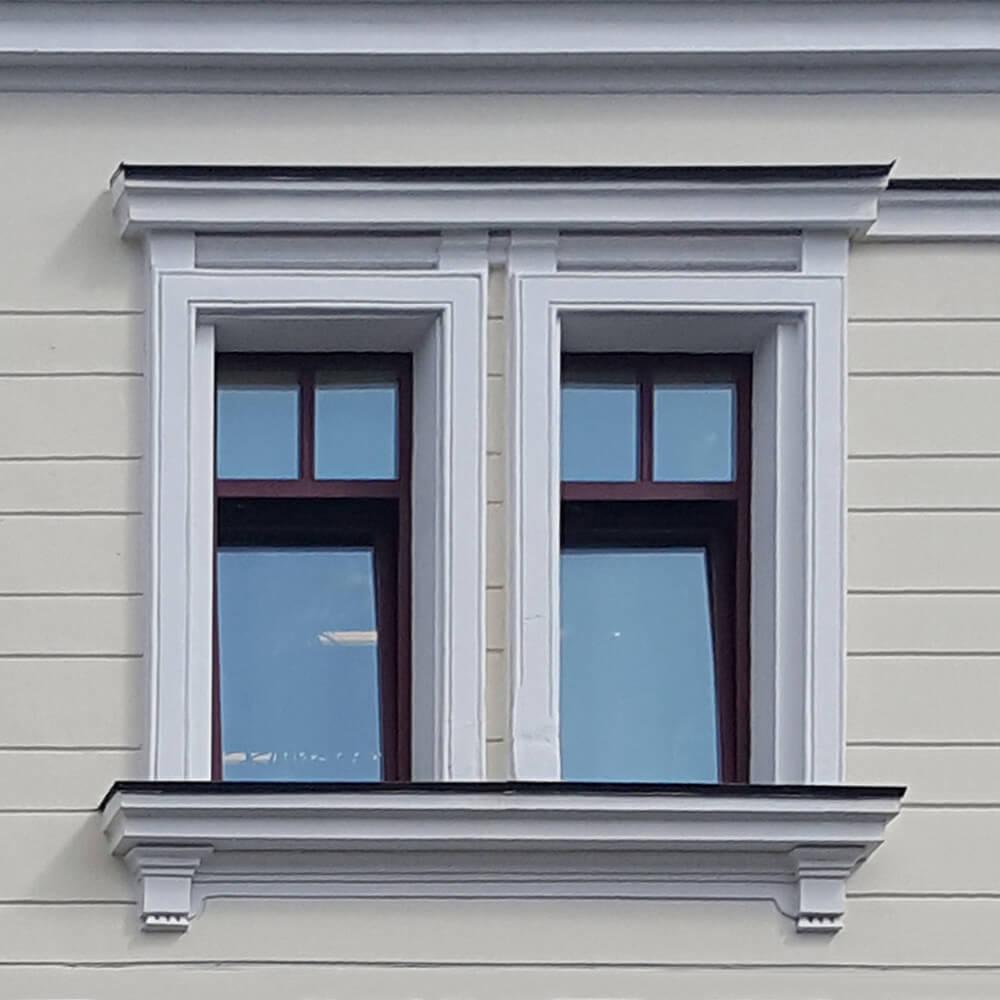обрамление окон пенопластом на фасаде дома фото бесценный